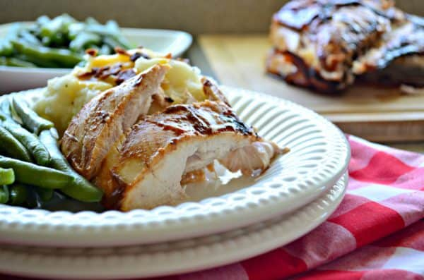 Grilled Barbecue Turkey Breast