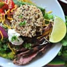 Grilled Steak Fajita Quinoa Bowls #inspiredbybeef #SundaySupper