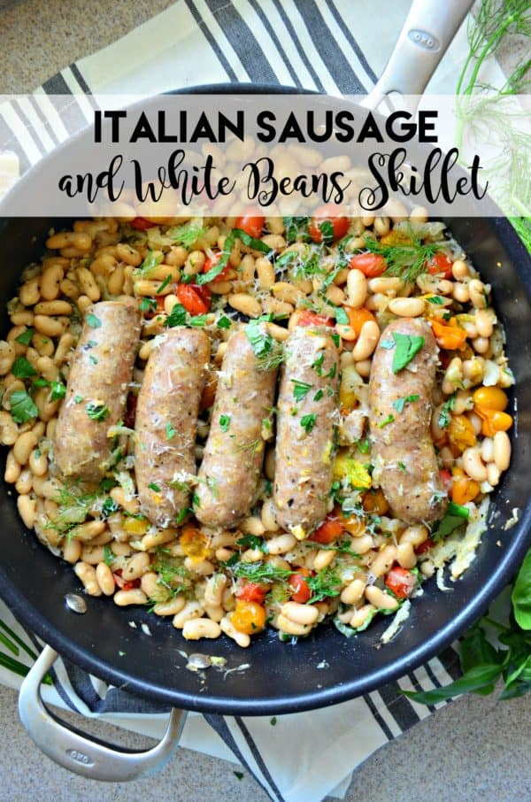 Italian Sausage and White Beans Skillet