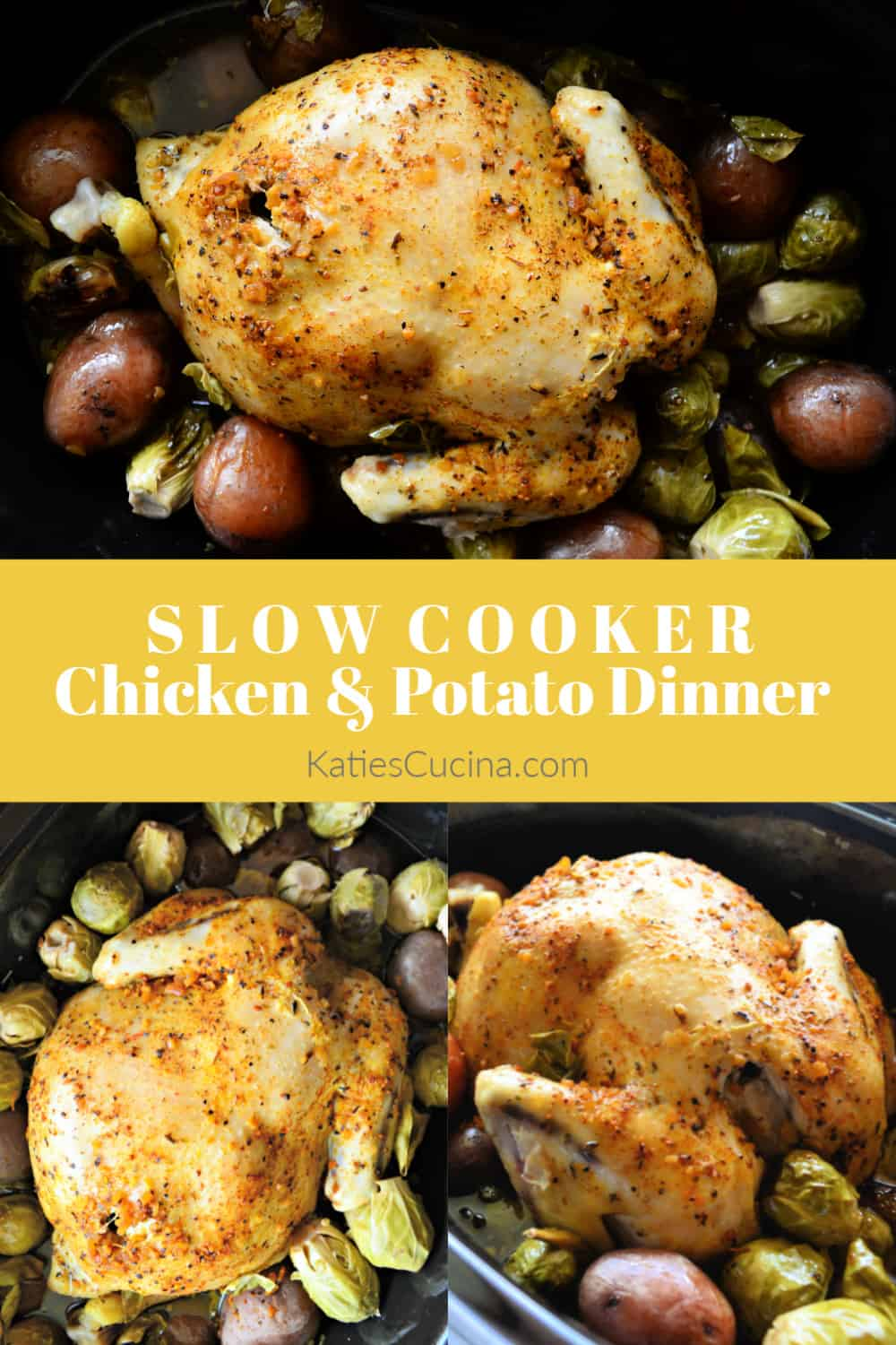 Slow Cooker Chicken And Potato Dinner with Text