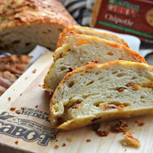 Chipotle Cheddar & Bacon No-Knead Crusty White Bread