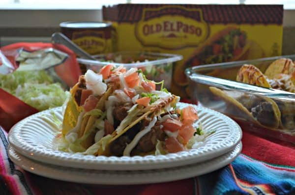Beef & Refried Bean Baked Tacos #AD#OEPGameDay