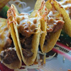 Beef & Refried Bean Baked Tacos #AD #OEPGameDay