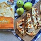 Goat Cheese, Bacon, and Pear Naan Flatbreads #HelloNaan #Ad