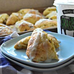 Cranberry Vanilla Yogurt Scones