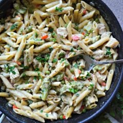 One Pot Chipotle Ranch Chicken Pasta