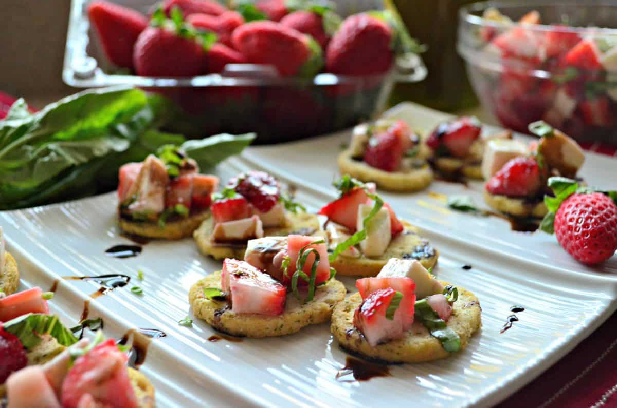Strawberry Mozzarella Bruschetta