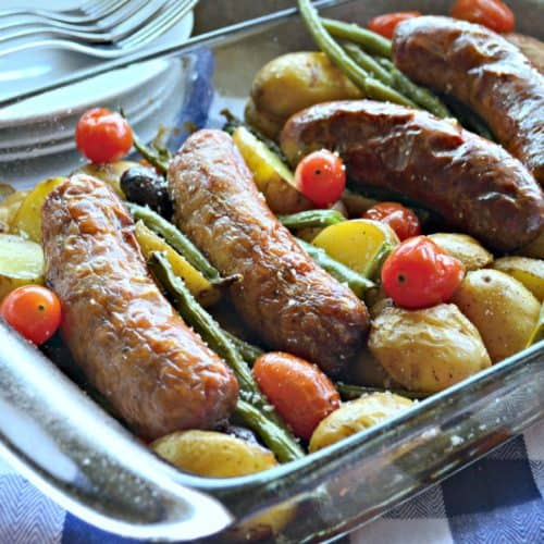 Sausage Potato & Green Bean Bake