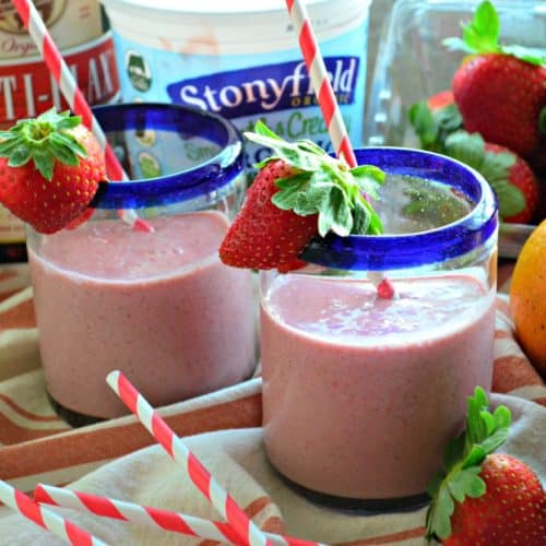 Strawberry Orange Flax Smoothies