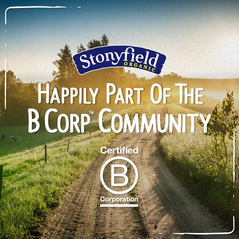 Stonyfield B Corp Community certified image.