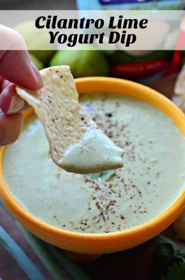 Creamy Cilantro Lime Yogurt Dip