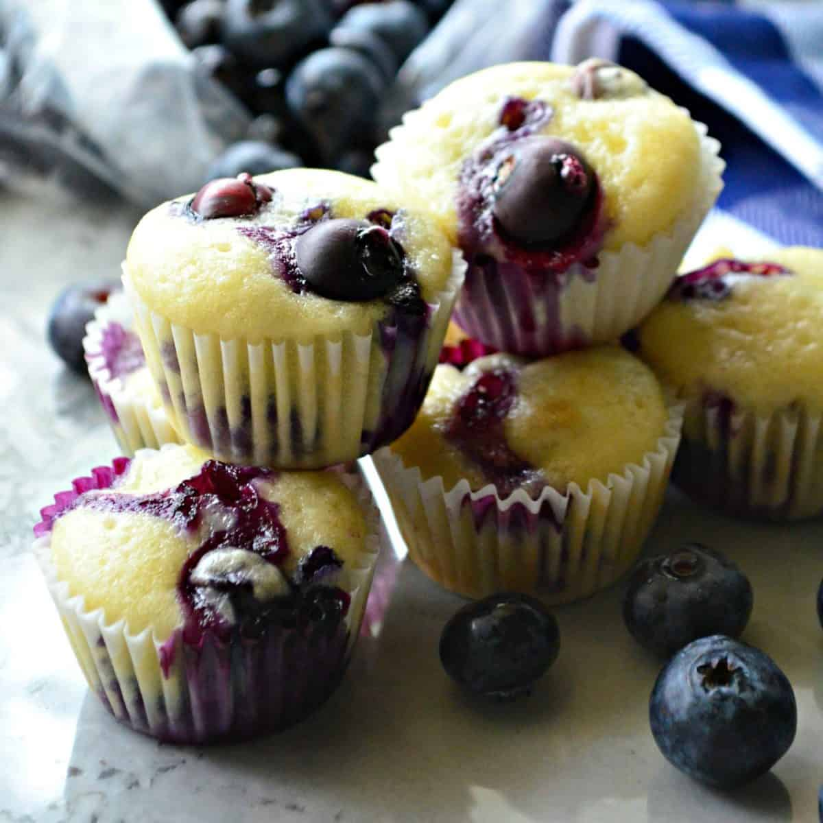 Mini Blueberry Yogurt Muffins square