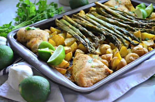 Sheet Pan Cilantro Lime Chicken Dinner