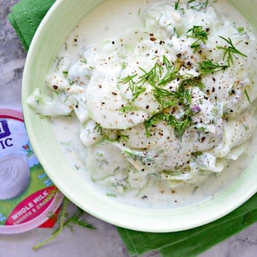 Yogurt Cucumber Dill Salad