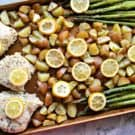 Sheet Pan Lemon Garlic Chicken Dinner recipe