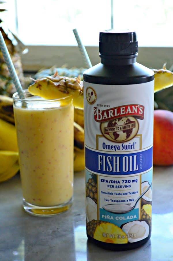 Barleans Fish Oil Omega Swirl Pina Colada Flavor