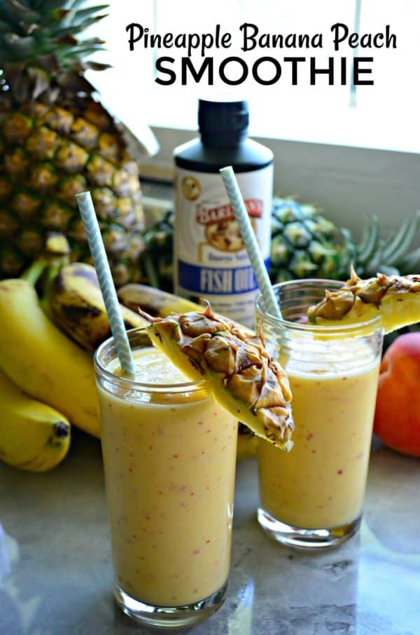 Pineapple Banana Peach Smoothie