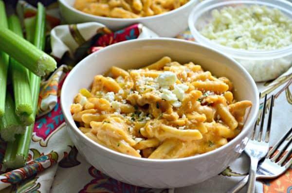 Creamy Buffalo Chicken Pasta #ReadyPasta