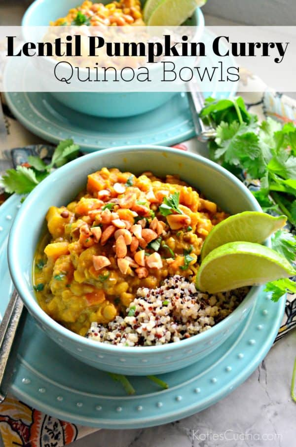 Lentil Pumpkin Curry Quinoa Bowls Photo