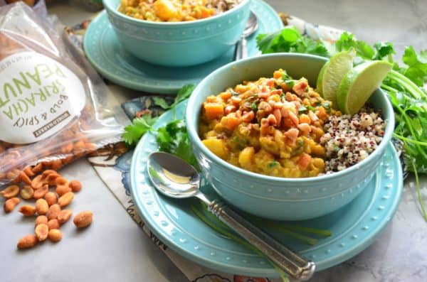 Lentil Pumpkin Curry Quinoa Bowls