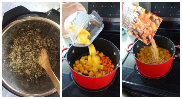 Lentil Pumpkin Curry Quinoa Bowls steps to make