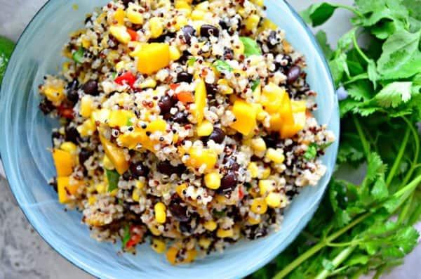 Southwestern Quinoa Salad with Mango