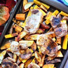 Sheet Pan Harvest Pork Chop Dinner