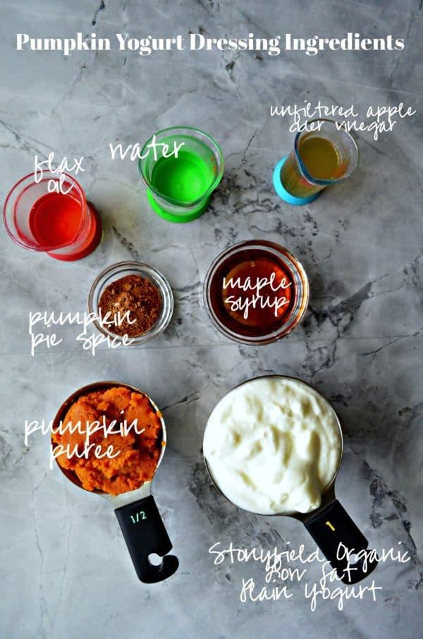 Pumpkin Yogurt Dressing Ingredients