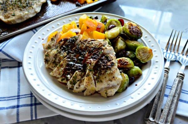 Sheet Pan Honey Balsamic Autumn Chicken Dinner