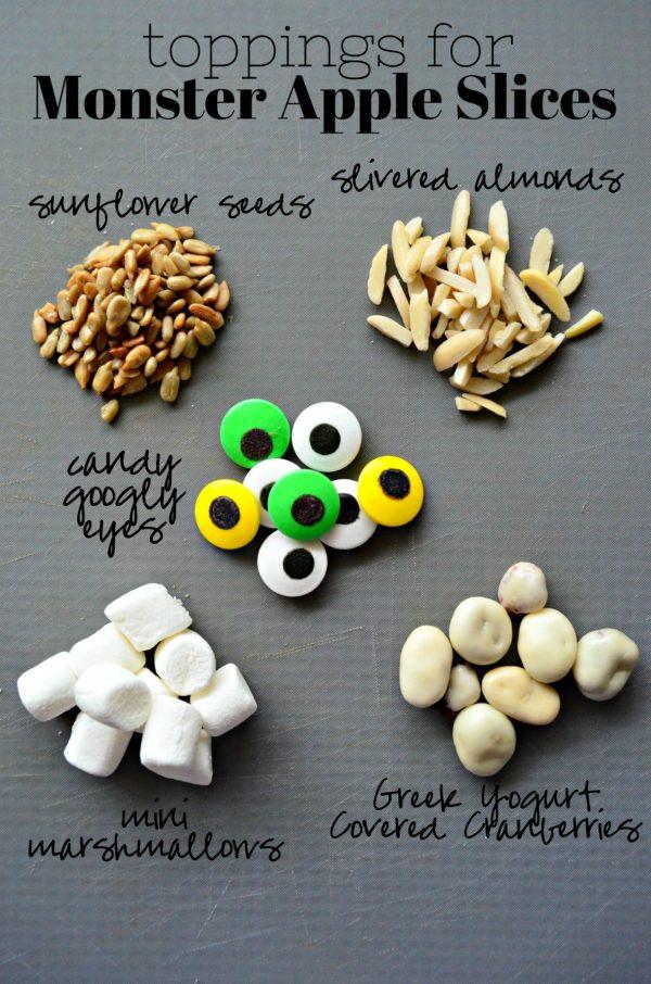 toppings for Monster Apple Slices