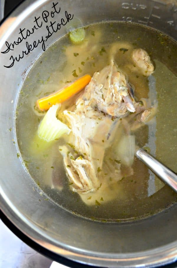 Instant Pot Turkey Stock - Katie\'s Cucina