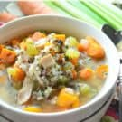 Instant Pot Turkey & Wild Rice Soup