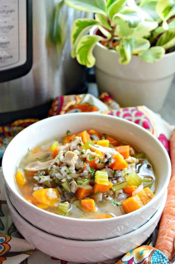 Instant Pot Turkey & Wild Rice Soup