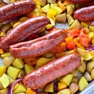 Sheet Pan Kielbasa, Potato, and Pepper Dinner
