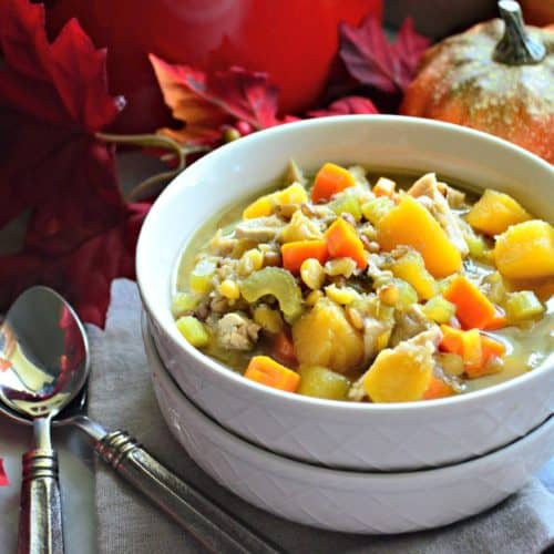 Turkey Butternut Squash and Lentil Soup