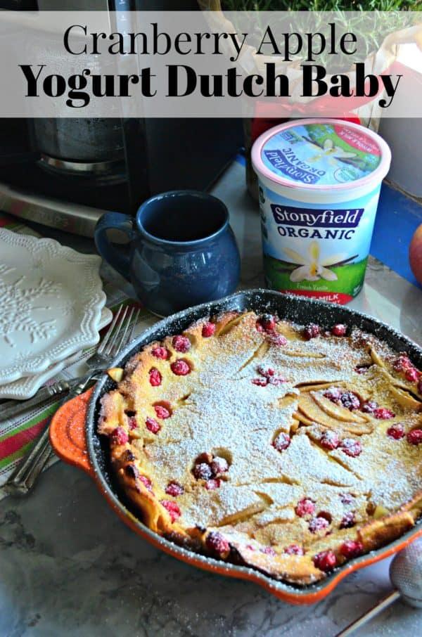 Cranberry Apple Yogurt Dutch Baby