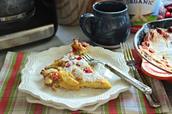 Cranberry Apple Yogurt Dutch Baby