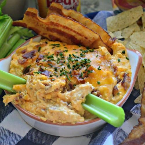 Bacon & Chive Buffalo Chicken Dip