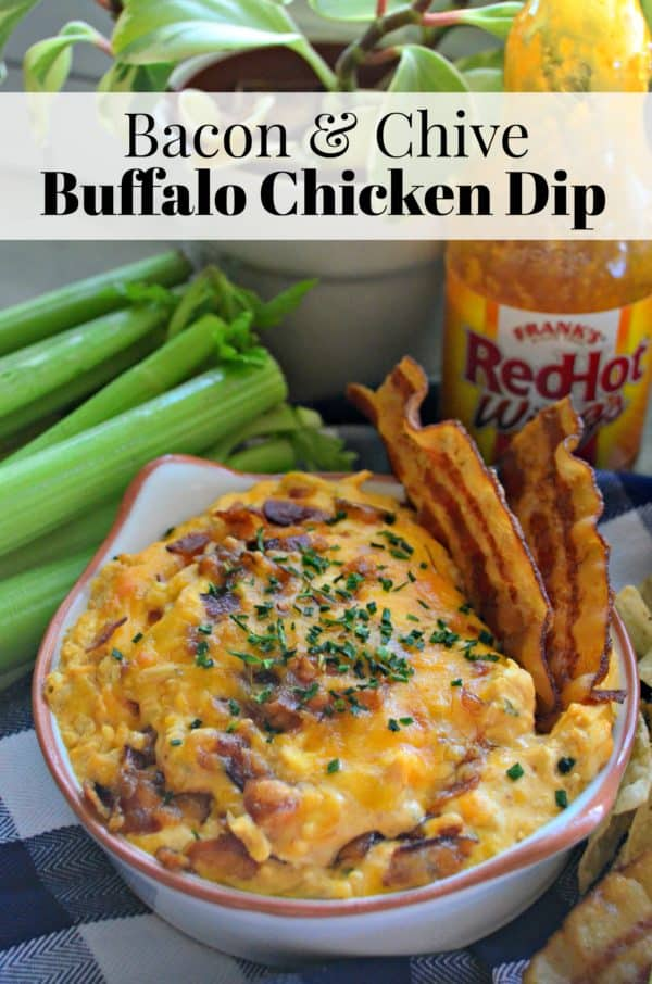Bacon & Chive Buffalo Chicken Dip