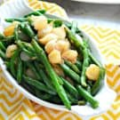 Green Beans with Caramelized Pearl Onions Square
