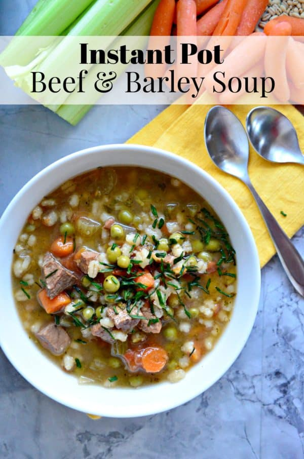 Instant Pot Beef & Barley Soup