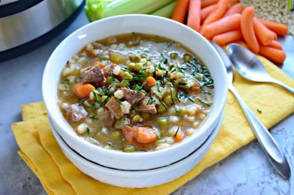 Instant Pot Beef & Barley Soup