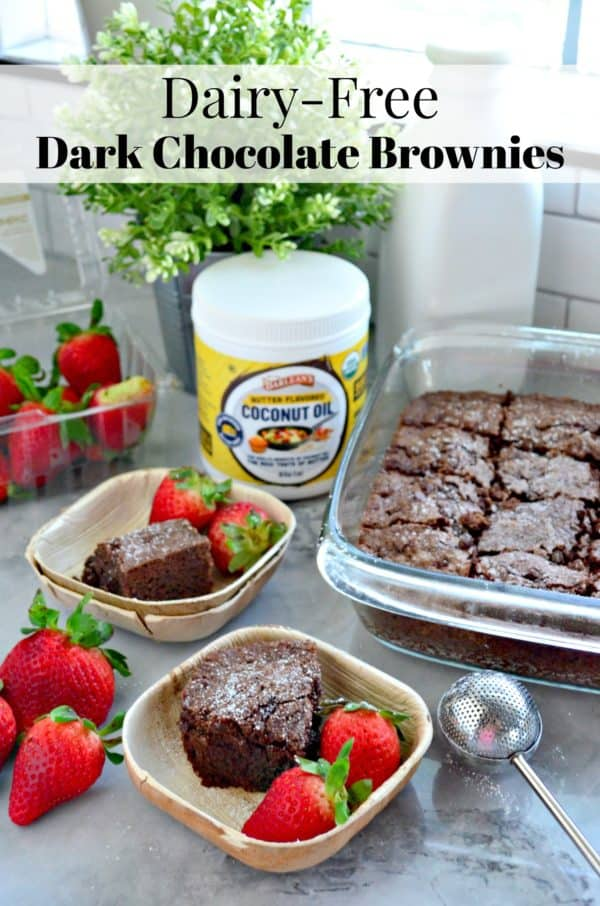 Dairy-Free Dark Chocolate Brownies Recipe
