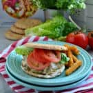 Turkey and Chickpea Burgers with Dill Havarti square