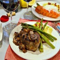 Valentine's Day Steak and Lobster Dinner
