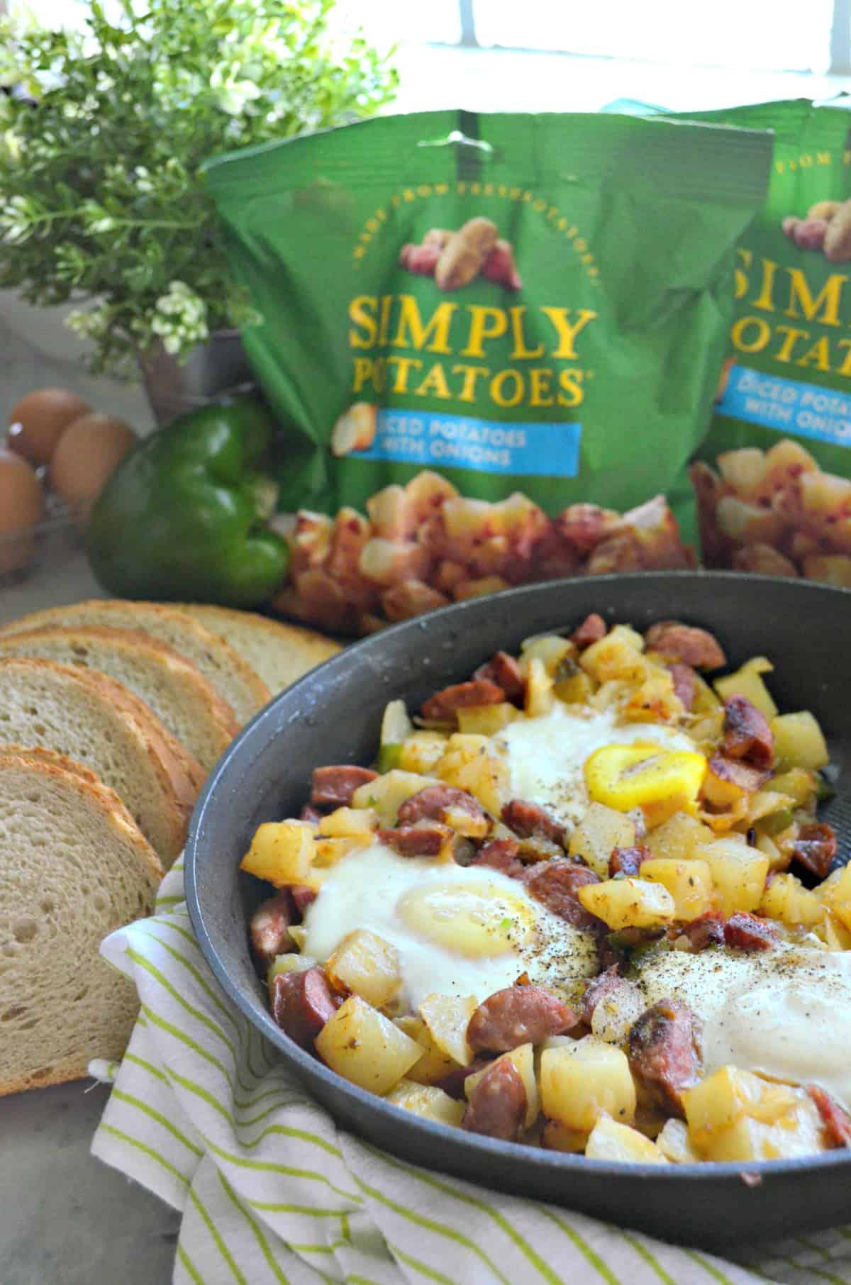 Cajun Andouille Breakfast Skillet
