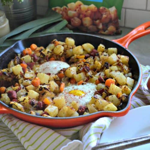 Corned Beef Hash & Egg Breakfast Skillet