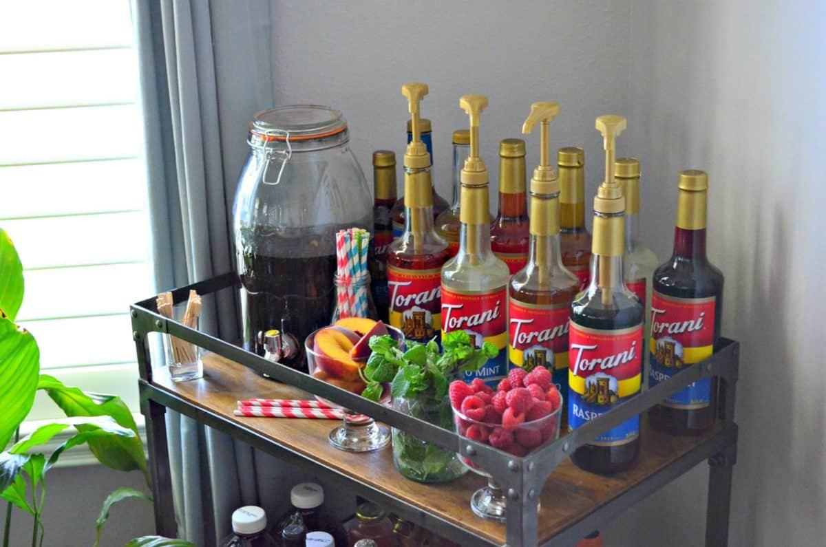How to Create an Iced Tea Bar with Torani Fruit Syrups
