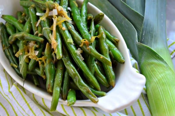 Sauteed Green Beans & Leeks