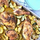 Sheet Pan Chicken and Squash dinner